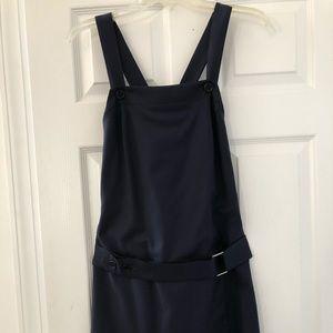 Trina Turk navy apron dress